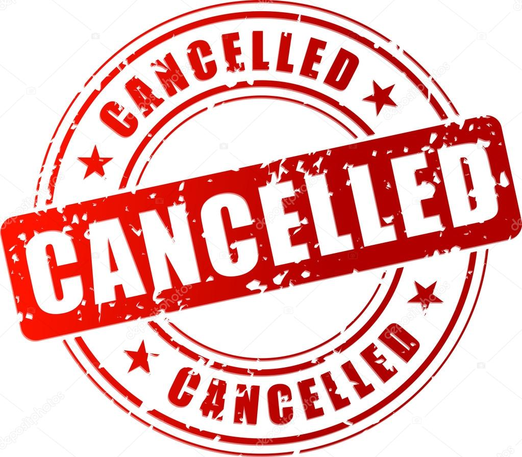 Risultato immagini per evento annullato